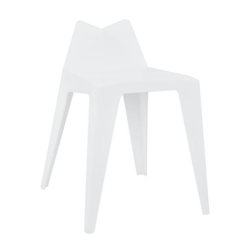 """Σκαμπό μπαρ """"HOMER"""" από PP σε χρώμα λευκό 36x44x61,5"""