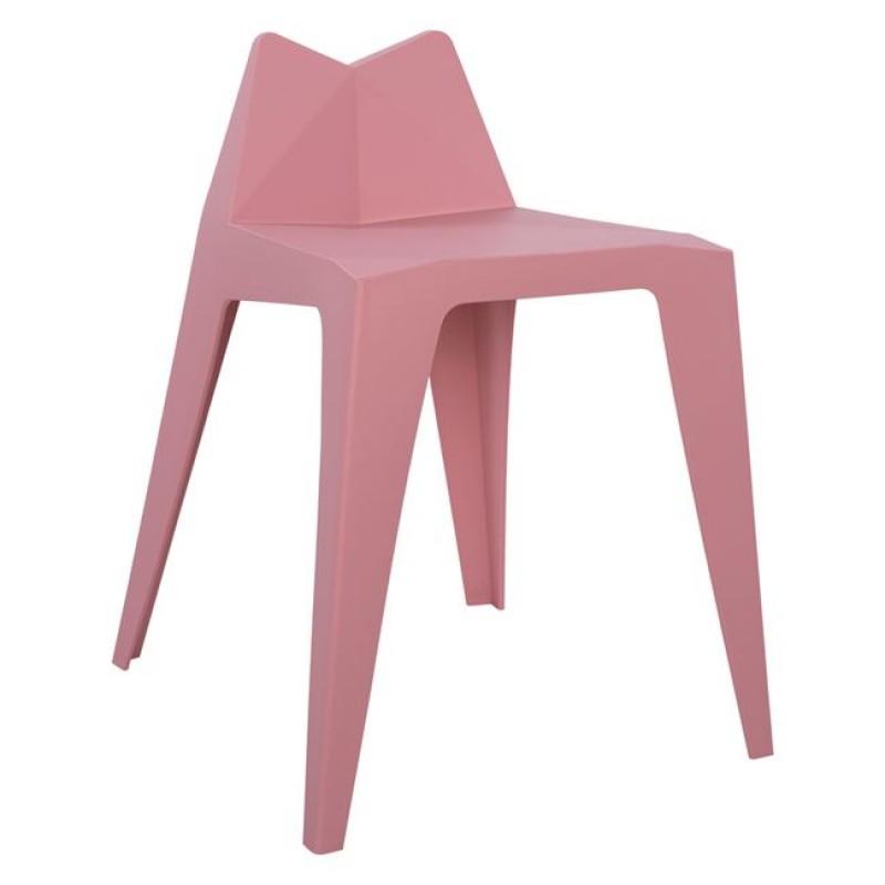 """Σκαμπό μπαρ """"HOMER"""" από PP σε χρώμα ροζ 36x44x61,5"""