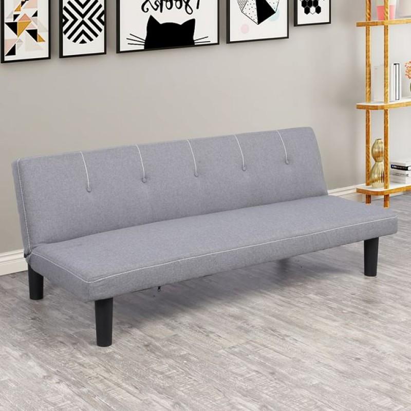 """Καναπές κρεβάτι """"ETHAN"""" από ύφασμα σε χρώμα γκρι 165x70x64"""