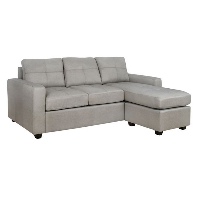Καναπές γωνία από ύφασμα σε χρώμα μπεζ/γκρι 205x145x87