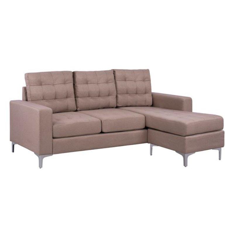 """Καναπές γωνία """"SANTINO"""" από ύφασμα σε χρώμα μπεζ 192x129x82"""