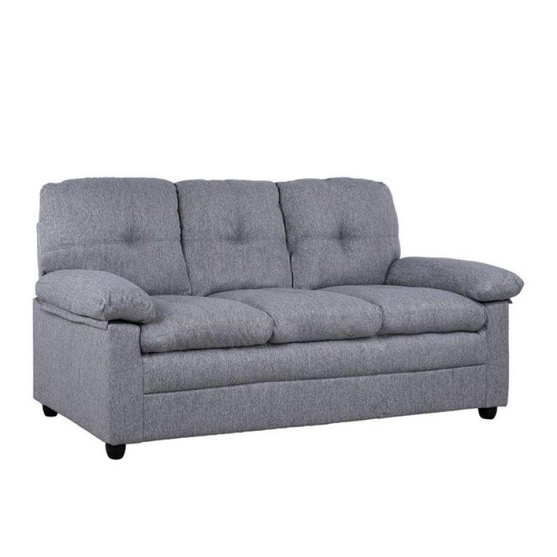 Καναπές τριθέσιος από ύφασμα σε χρώμα γκρι 193x84x93