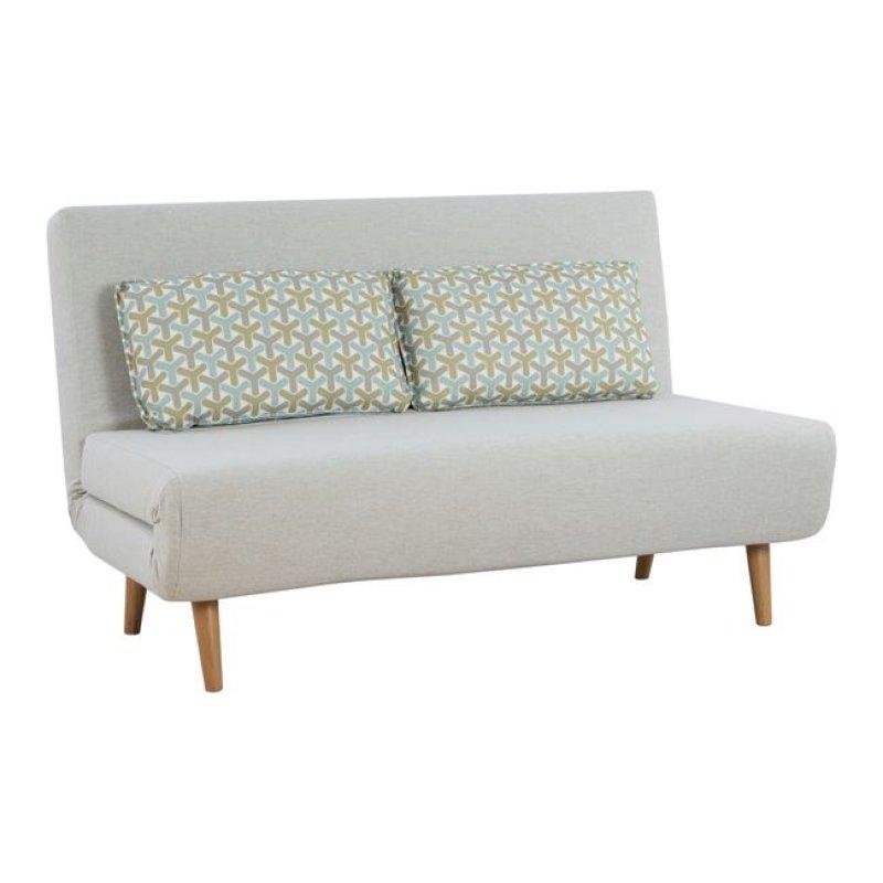 Καναπές κρεβάτι από ύφασμα σε χρώμα εκρού 140x86x86
