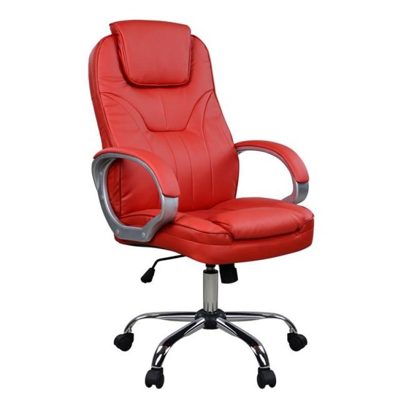 Πολυθρόνα διευθυντή από PU σε χρώμα κόκκινο 65x71x106,5