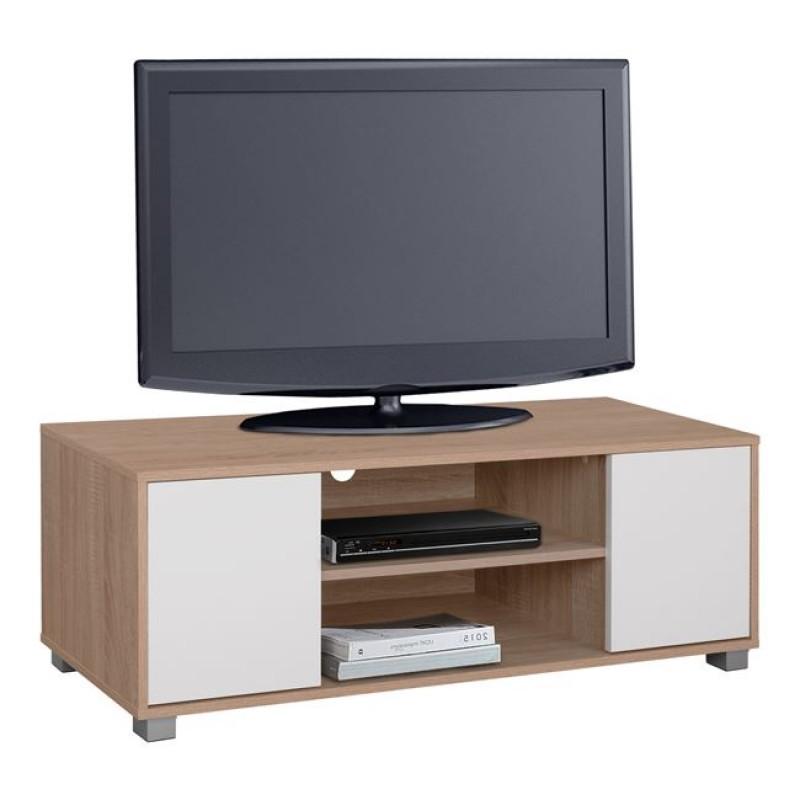 Έπιπλο τηλεόρασης σε χρώμα σονόμα/λευκό 120x40x41