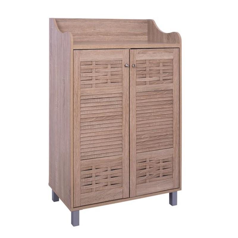 Παπουτσοθήκη-ντουλάπι σε χρώμα σονόμα 77x40,5x122