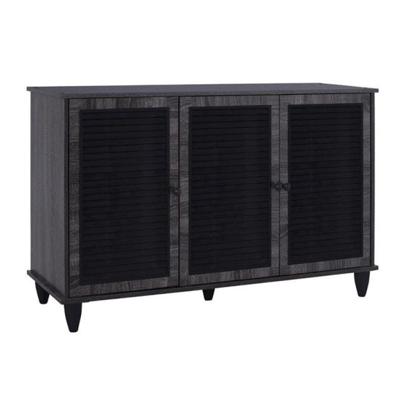 Παπουτσοθήκη-ντουλάπι σε χρώμα ανθρακί 112x30x68,5
