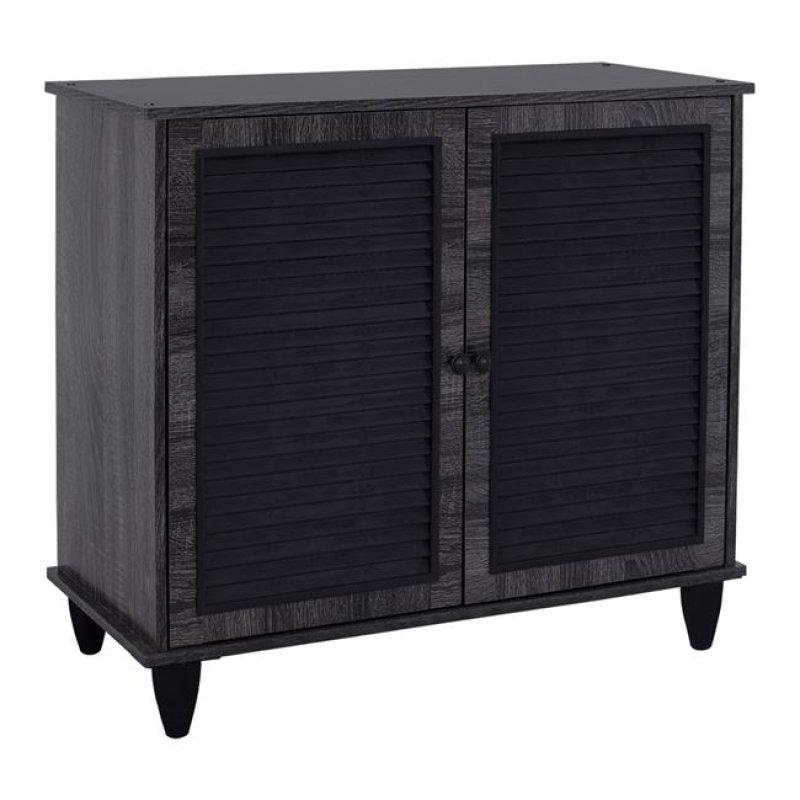 Παπουτσοθήκη-ντουλάπι σε χρώμα ανθρακί 76,5x30x68,5