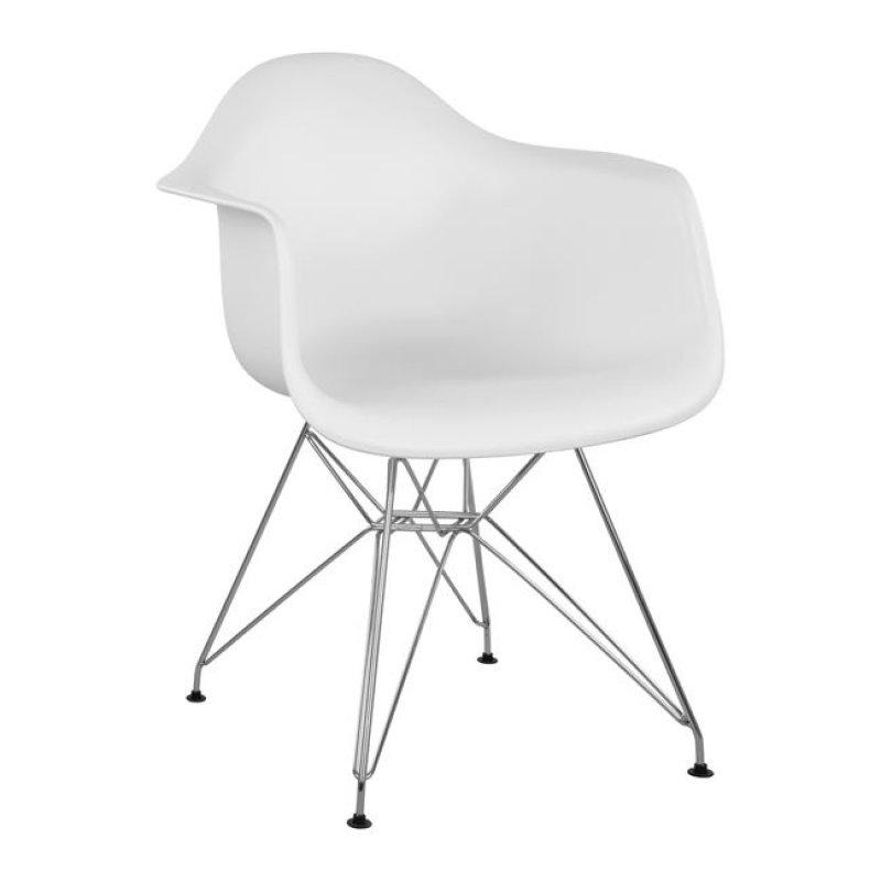 """Πολυθρόνα """"MIRTO"""" μεταλλική/PP σε χρώμα λευκό 61x60x84"""