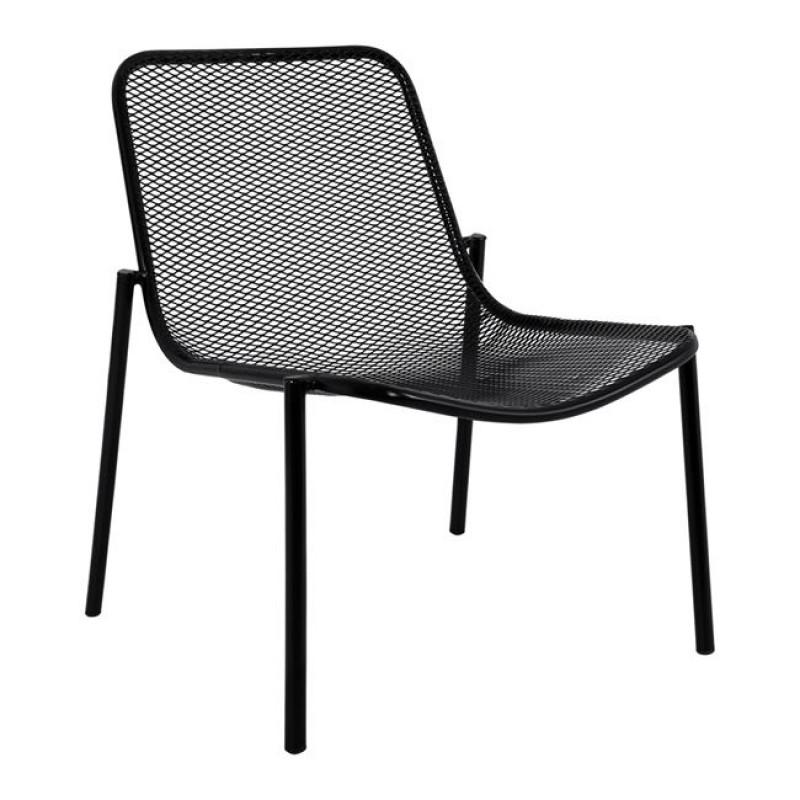 """Καρέκλα """"ARK"""" μεταλλική σε χρώμα μαύρο 55,5x67x69,5"""