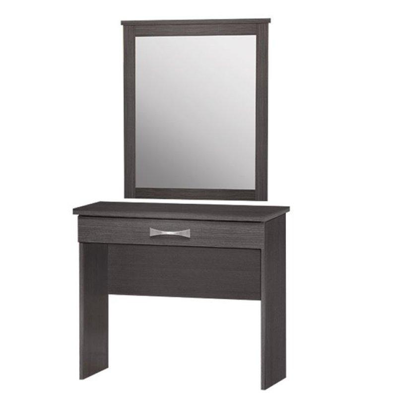 Τουαλέτα με καθρέπτη σε χρώμα ζεμπράνο 80x40x76