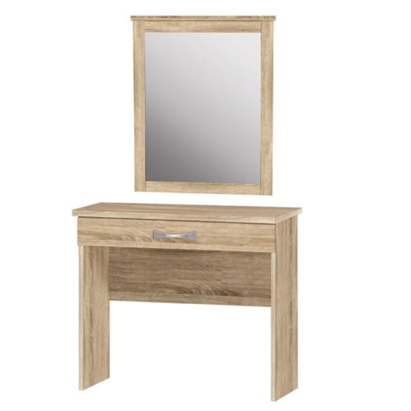 Τουαλέτα με καθρέπτη σε χρώμα σονόμα 80x40x76