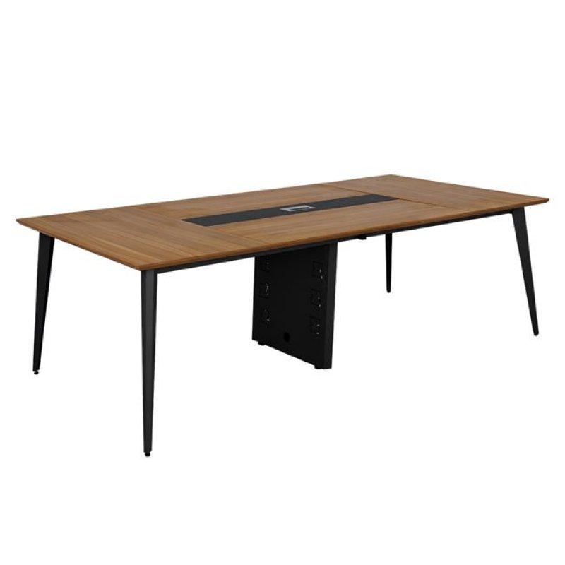"""Γραφείο συνεδριάσεων """"SUPREME"""" από μέταλλο σε χρώμα γκρι/μελί 242x120x75"""