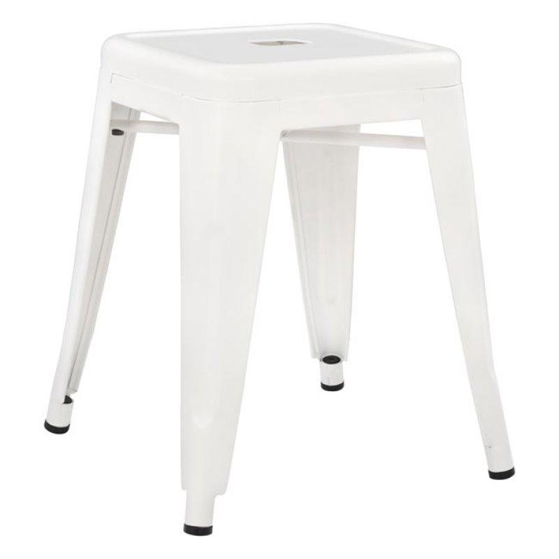 """Σκαμπό """"MELITA"""" μεταλλικό σε χρώμα λευκό 39x39x46"""