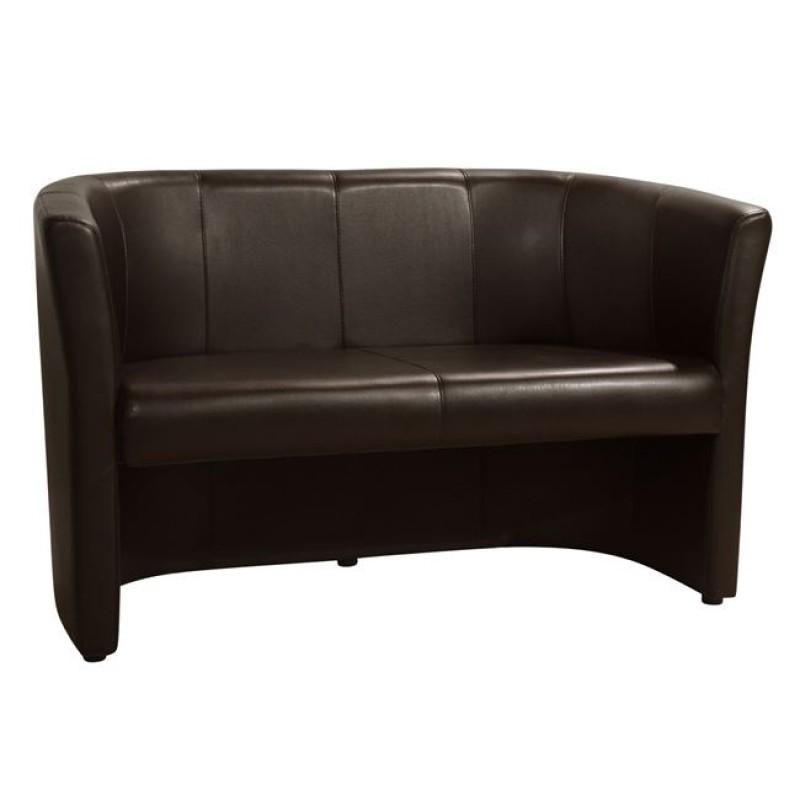 """Καναπές """"ΑΠΟΛΛΩΝ"""" διθέσιος από pu σε χρώμα καφέ 124x61x77"""