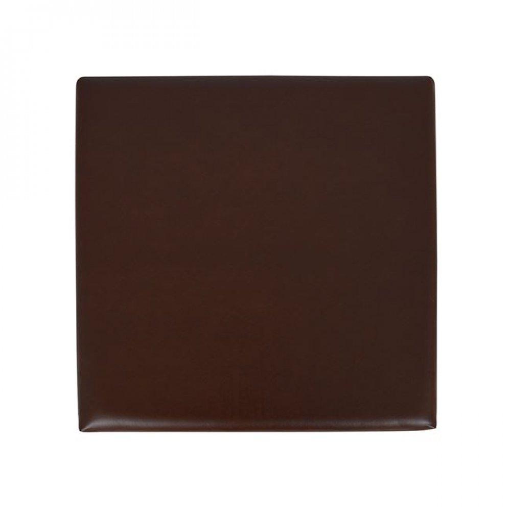 """Σκαμπό βοηθητικό """"ALEX"""" από PU σε χρώμα σκούρο καφέ 38x38x38"""