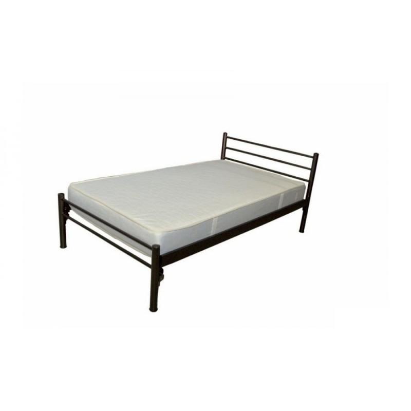Κρεβάτι μονό μεταλλικό σε χρώμα μαύρο 90x190