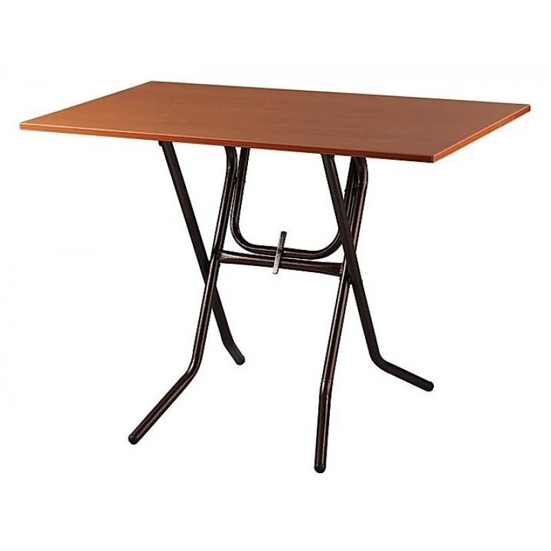 Τραπέζι μεταλλικό σε χρώμα μαύρο/καφέ 60x80