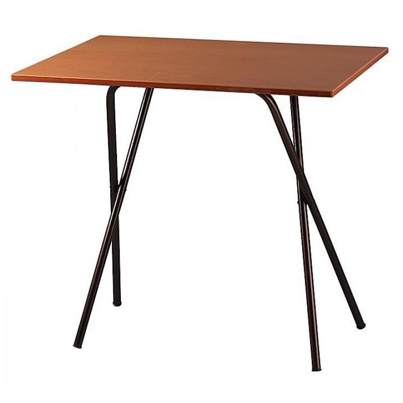 Τραπέζι μεταλλικό σε χρώμα μαύρο/καφέ 60x90