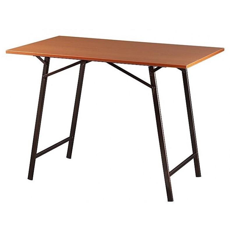 Τραπέζι μεταλλικό σε χρώμα μαύρο/καφέ 60x100