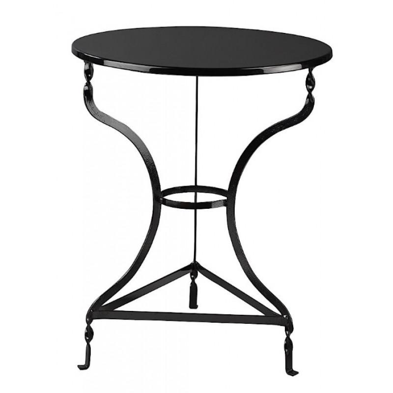 Τραπέζι μεταλλικό στρόγγυλο σε χρώμα μαύρο Φ70