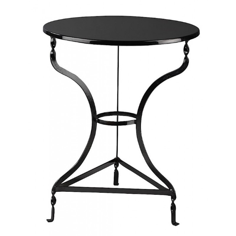 Τραπέζι μεταλλικό στρόγγυλο σε χρώμα μαύρο Φ40