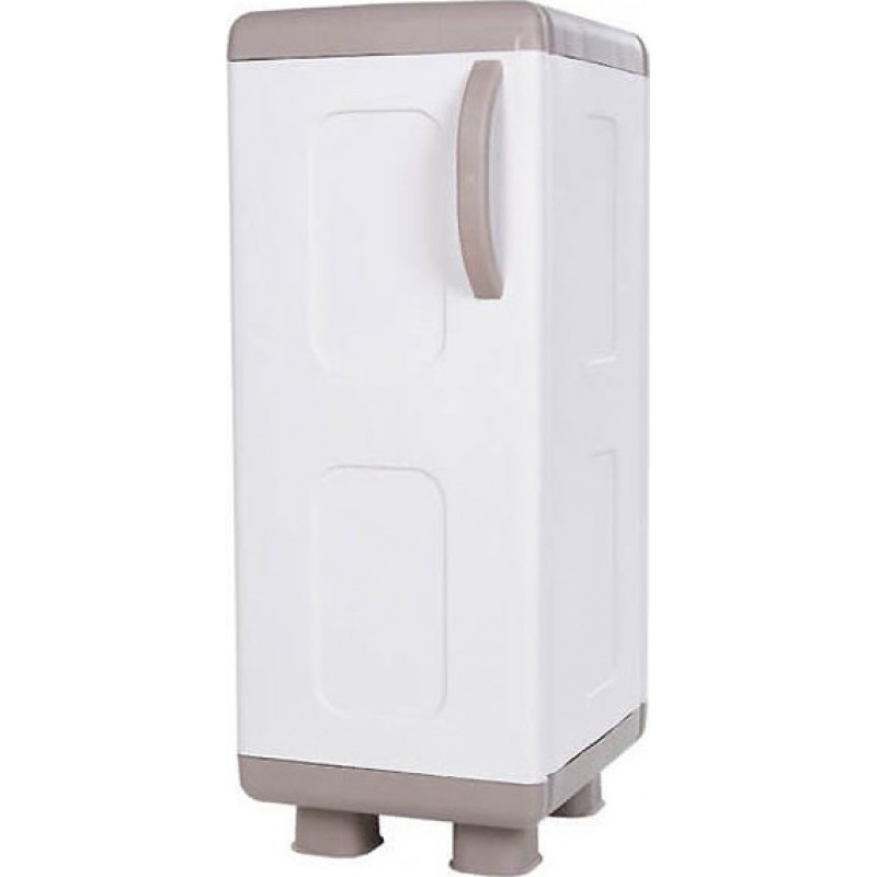 """Ντουλάπα """"ΡΕΑ"""" μονόφυλλη πλαστική σε μπεζ-λευκό χρώμα 44x36x96"""