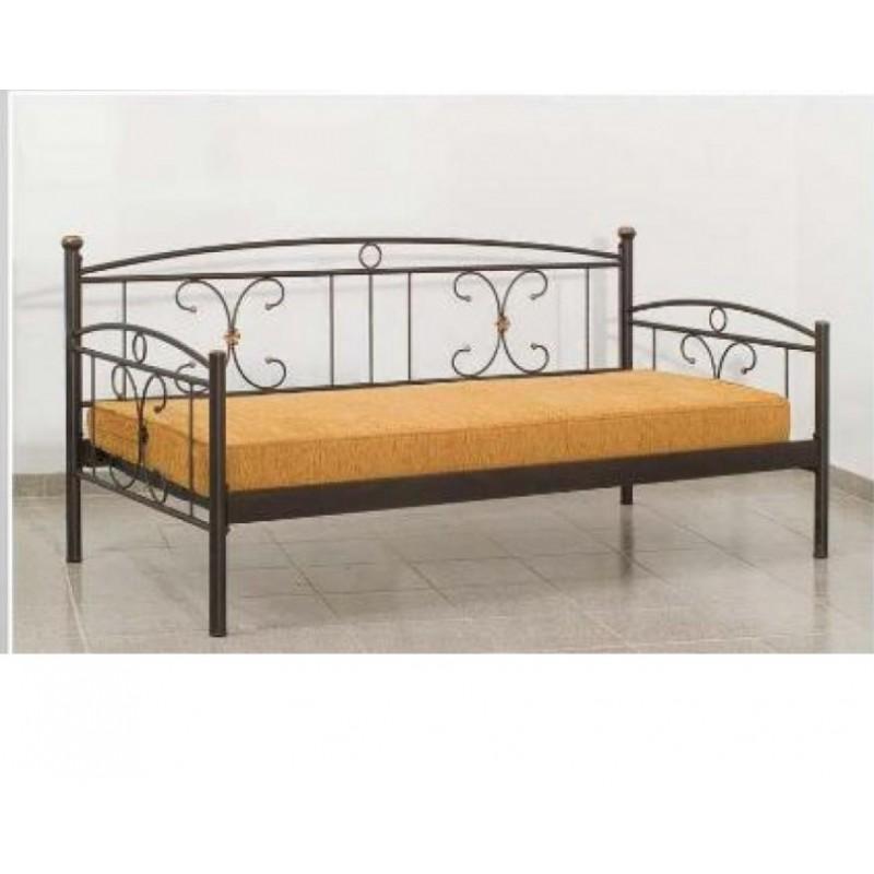 Καναπές-κρεβάτι μεταλλικός σε χρώμα μαύρο 92x192