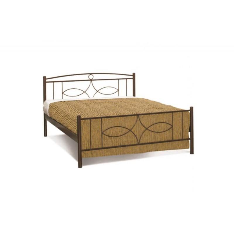 Κρεβάτι διπλό μεταλλικό σε χρώμα χάλκινο 142x192