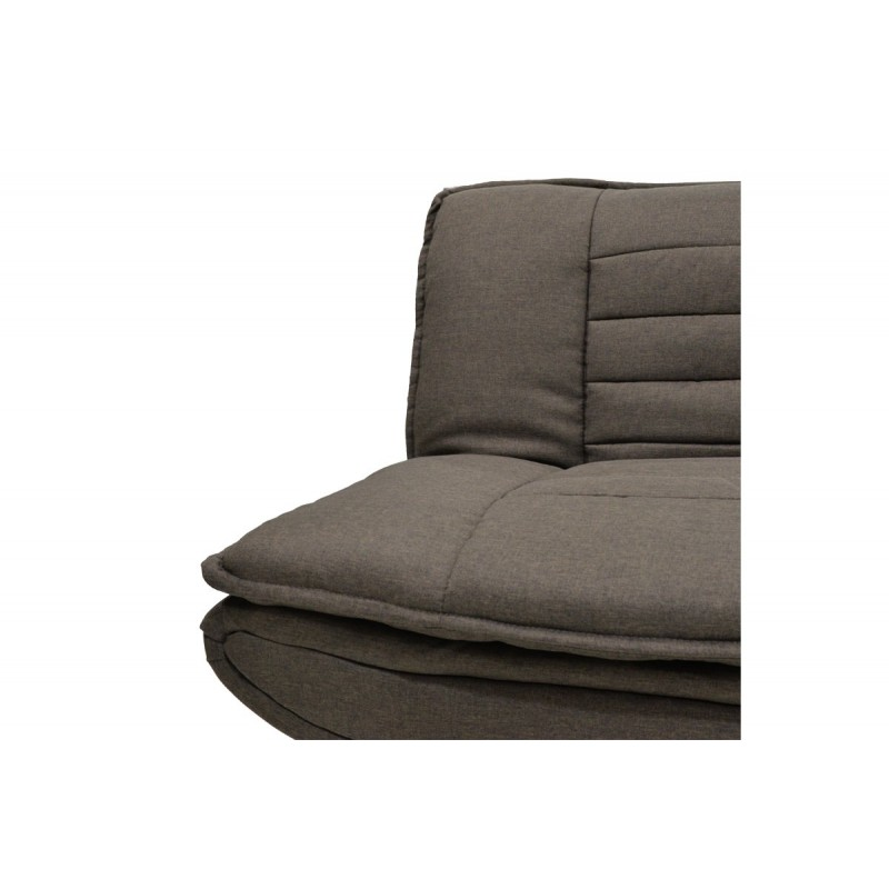 """Καναπές-κρεβάτι """"COMFORT"""" τριθέσιος από ύφασμα σε χρώμα καφέ 182x88x84"""