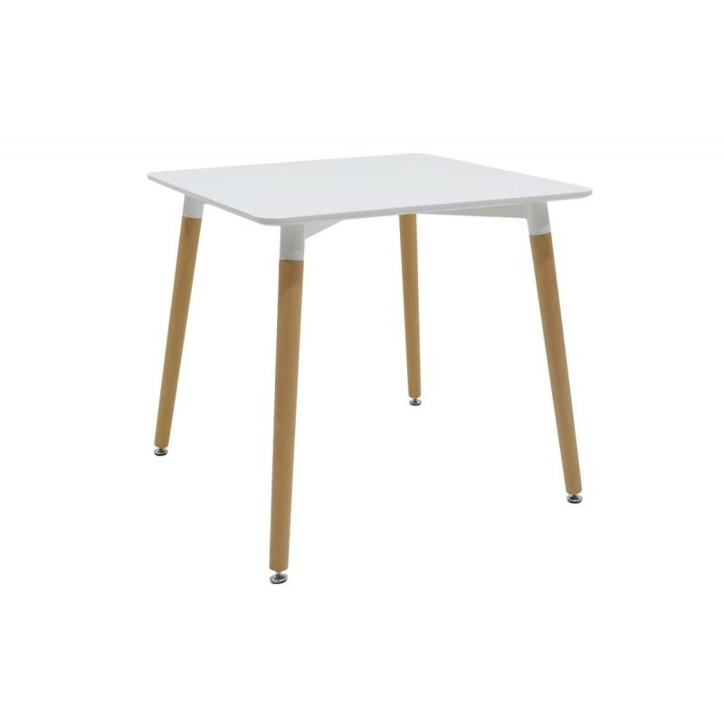 """Τραπέζι """"NATALI"""" τετράγωνο σε χρώμα λευκό 80x80x73"""