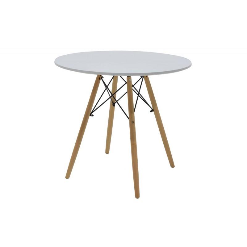 """Τραπέζι """"JULITA"""" στρογγυλό σε χρώμα λευκό Φ80x71.5"""