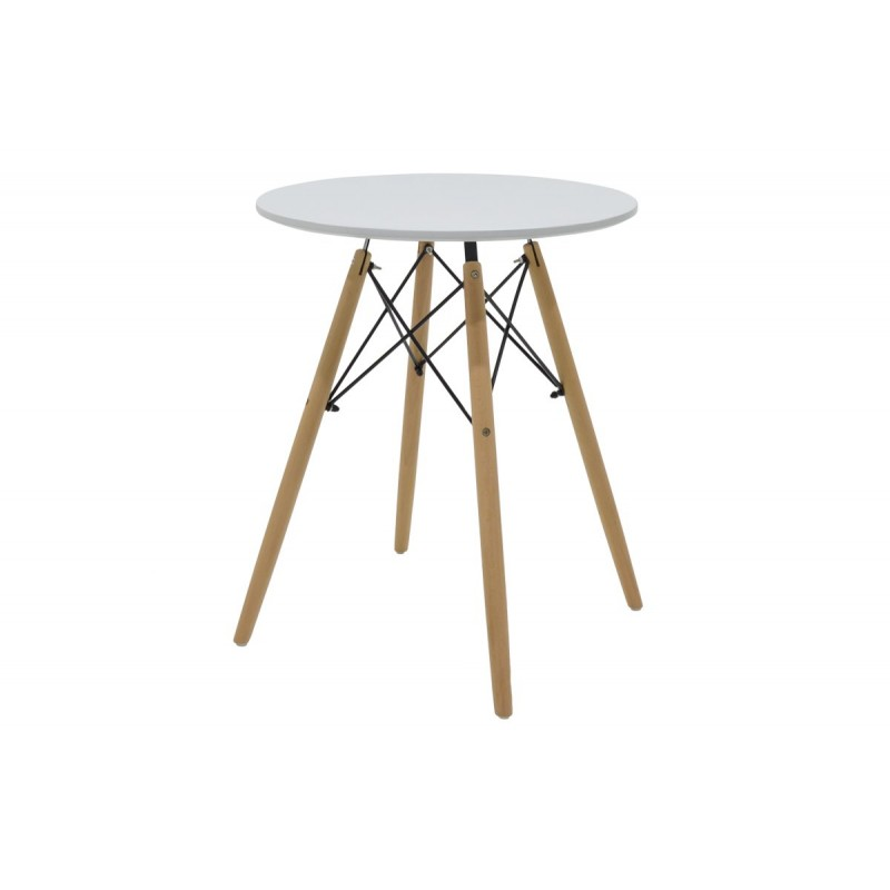 """Τραπέζι """"JULITA"""" στρογγυλό σε χρώμα λευκό Φ60x71.5"""