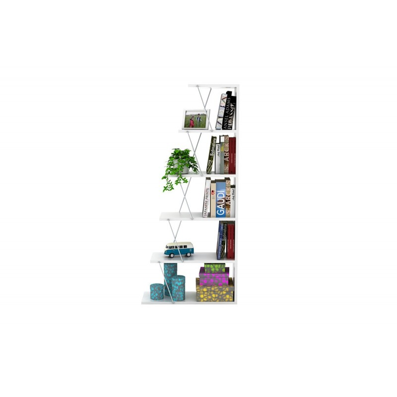 """Βιβλιοθήκη """"MINI TARS"""" σε χρώμα λευκό 65x22x146"""