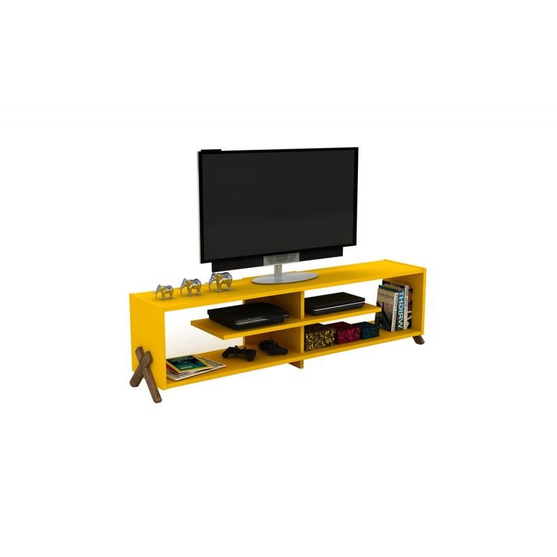 """Έπιπλο τηλεόρασης """"KIPP"""" σε χρώμα κίτρινο 145x31x39"""