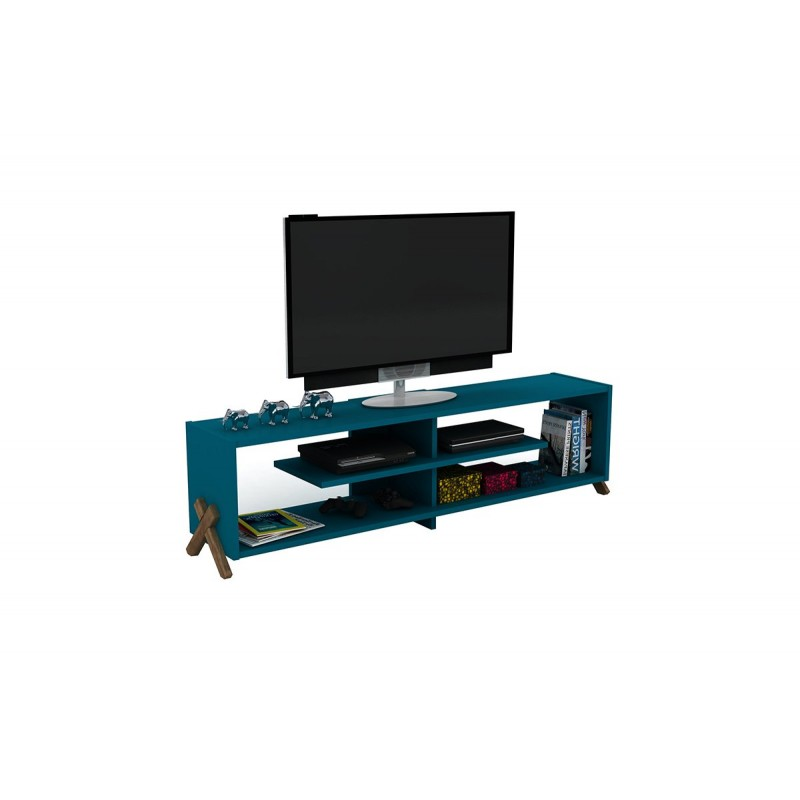 """Έπιπλο τηλεόρασης """"KIPP"""" σε χρώμα πετρόλ 145x31x39"""