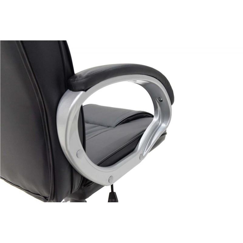 """Πολυθρόνα διευθυντή """"BATLER"""" από τεχνόδερμα σε χρώμα μαύρο 70x63x114"""