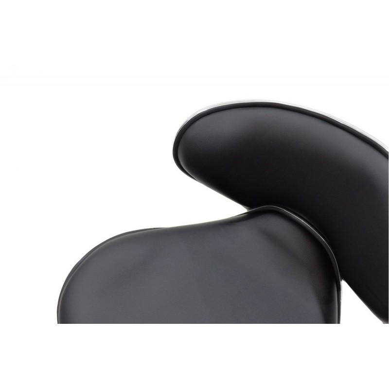 """Σκαμπώ μπαρ """"BUTTERFLY"""" μεταλλικό με PVC σε χρώμα μαύρο 50x46x83/105"""