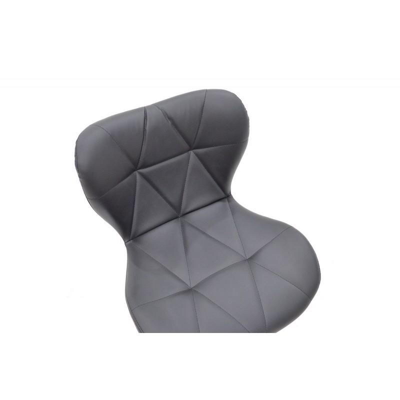 """Σκαμπώ μπαρ """"COZI"""" μεταλλικό με PVC σε χρώμα μαύρο 47x48x90/111"""