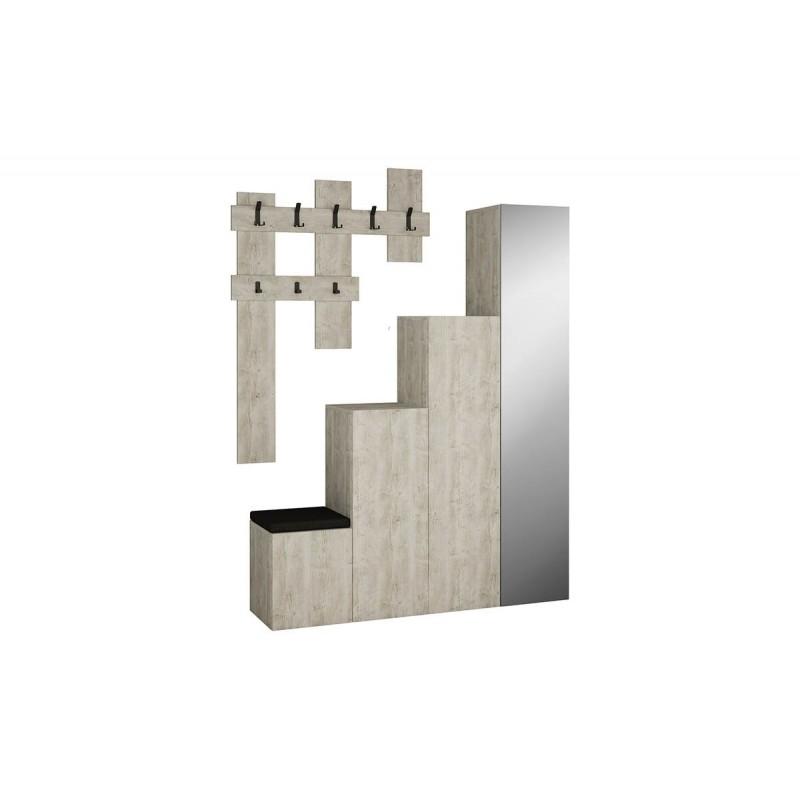 """Έπιπλο εισόδου-παπουτσοθήκη """"UP"""" σε χρώμα antique λευκό 150x37x180"""