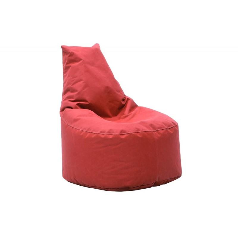 """Πουφ πολυθρόνα """"NORM"""" υφασμάτινο σε χρώμα κόκκινο 65x55x75"""
