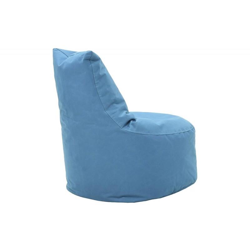 """Πουφ πολυθρόνα """"NORM"""" υφασμάτινο σε χρώμα τιρκουάζ 65x55x75"""