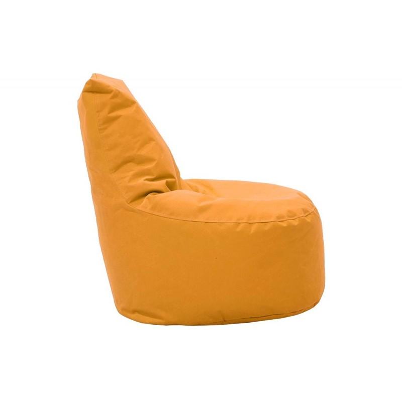 """Πουφ πολυθρόνα """"NORM"""" υφασμάτινο σε χρώμα πορτοκαλί 65x55x75"""