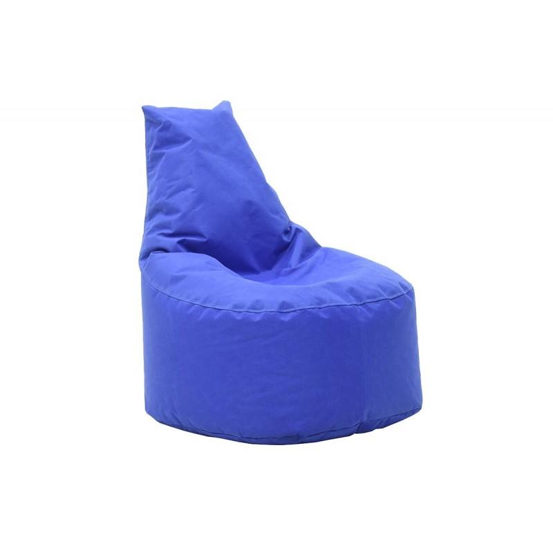 """Πουφ πολυθρόνα """"NORM"""" υφασμάτινο σε χρώμα μπλε 65x55x75"""