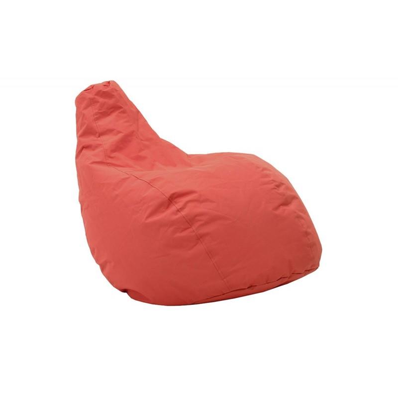 """Πουφ πολυθρόνα """"BASIC"""" υφασμάτινο σε χρώμα κόκκινο 70x70x90"""