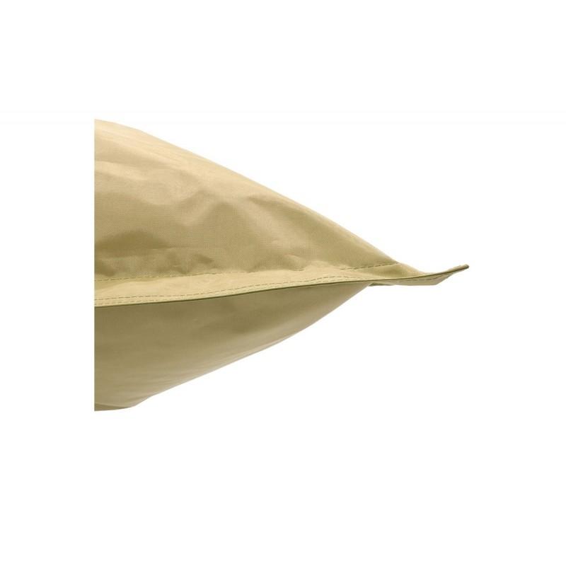 """Πουφ μαξιλάρι """"PIGRO"""" υφασμάτινο σε χρώμα μπεζ 175x135x25"""