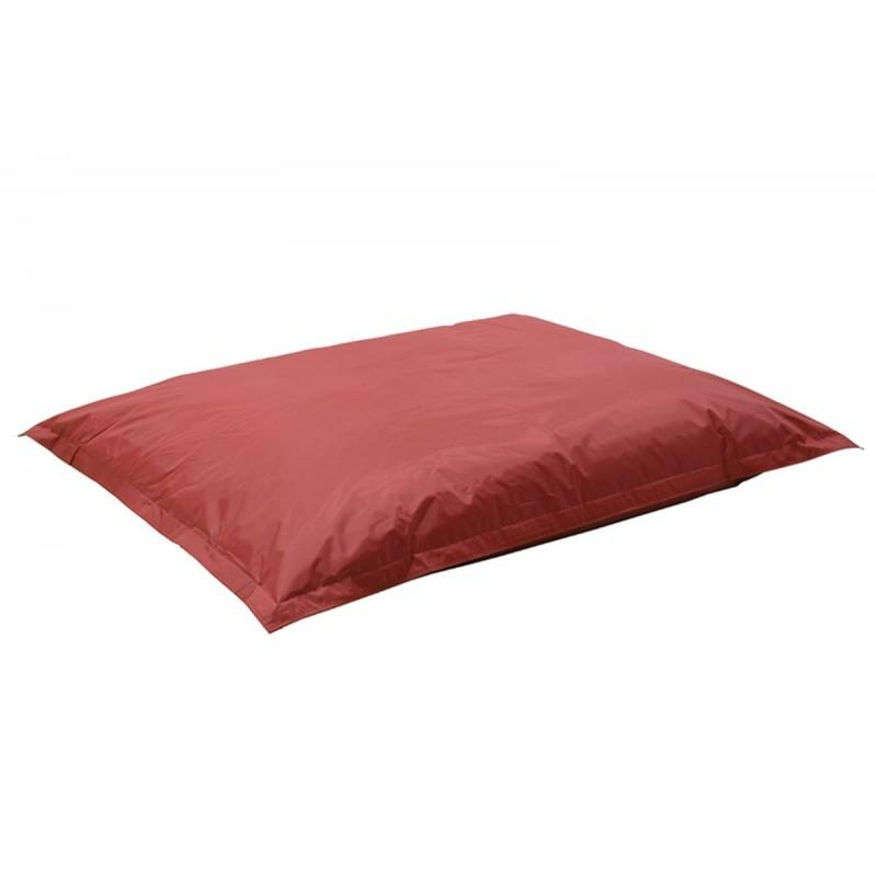 """Πουφ μαξιλάρι """"PIGRO"""" υφασμάτινο σε χρώμα κόκκινο 175x135x25"""