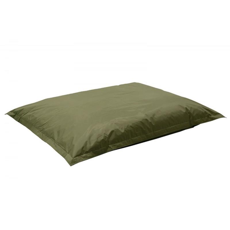 """Πουφ μαξιλάρι """"PIGRO"""" υφασμάτινο σε χρώμα σκούρο πράσινο 175x135x25"""