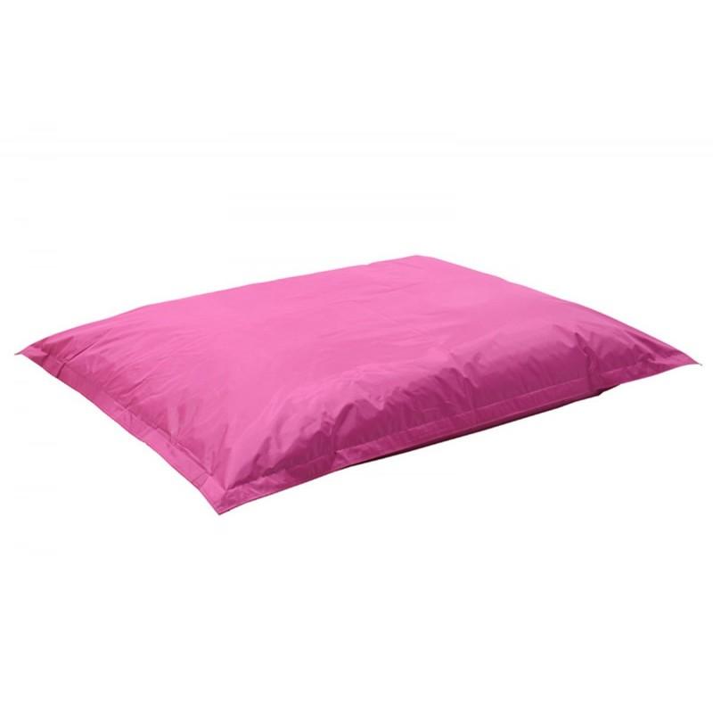 """Πουφ μαξιλάρι """"PIGRO"""" υφασμάτινο σε χρώμα ροζ 175x135x25"""