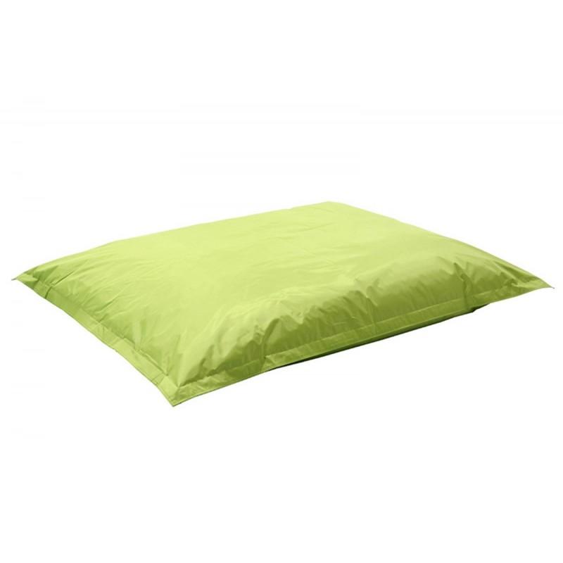 """Πουφ μαξιλάρι """"PIGRO"""" υφασμάτινο σε χρώμα πράσινο 175x135x25"""